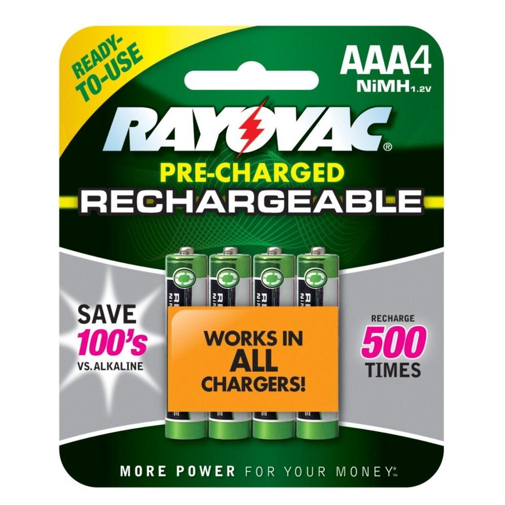 Rayovac AAA 4-Pack NiMh Batteries
