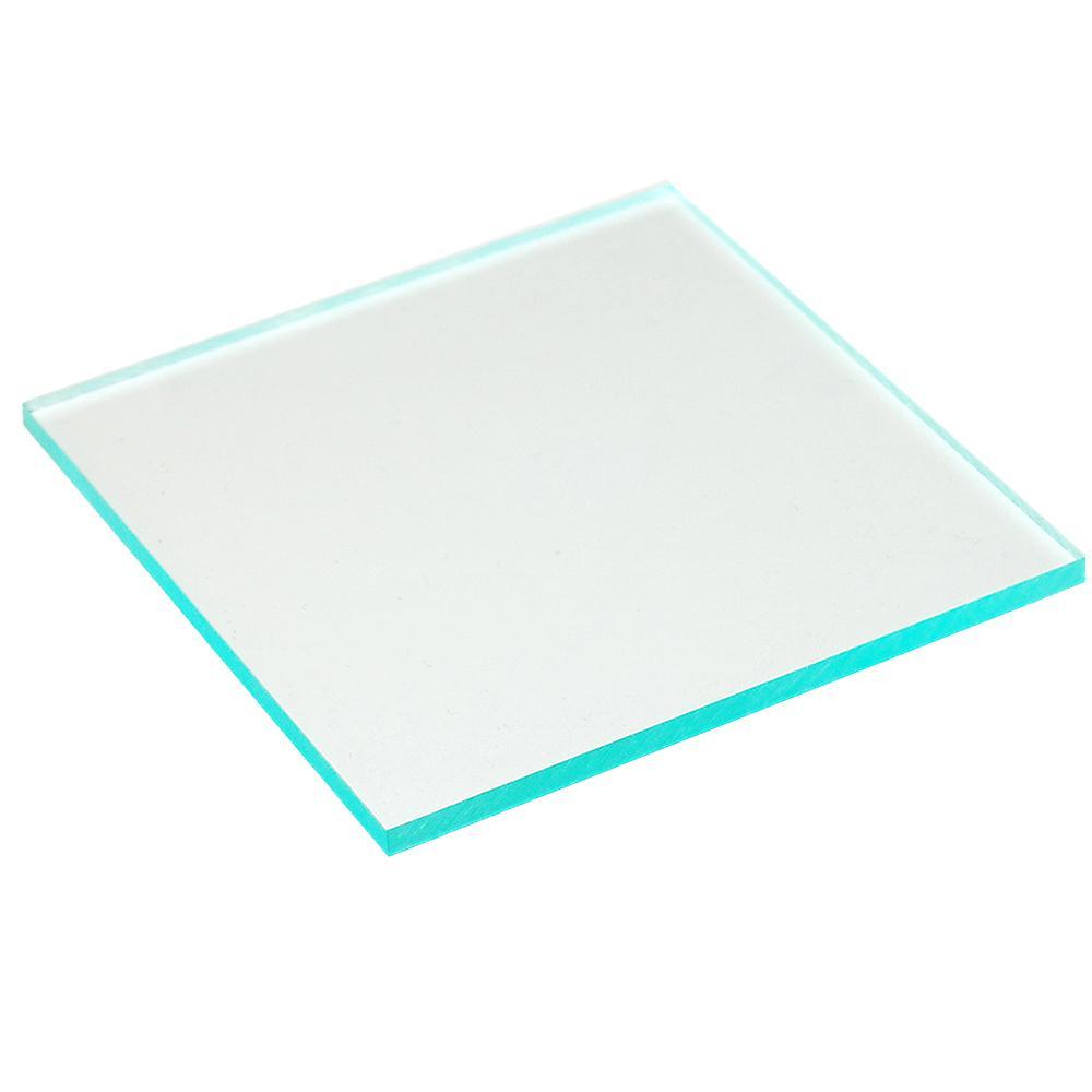 OPTIX 24 in. x 36 in. x 0.177 in. Clear Acrylic Green Edge Sheet