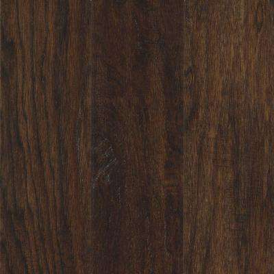 Take Home Sample - Steadman Espresso Hickory Engineered Scraped Hardwood Flooring - 5 in. x 7 in.