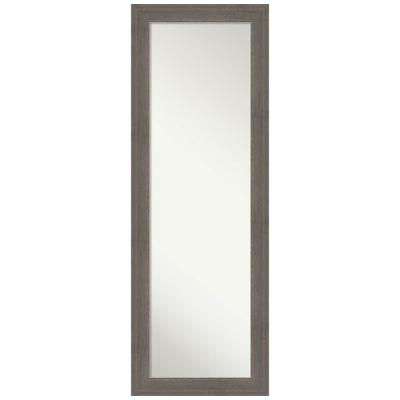 Large Rectangle Distressed Grey Hooks Casual Mirror (52.5 in. H x 18.5 in. W)