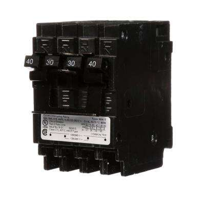 Quadplex One Outer 40 Amp Double Pole and One Inner 30 Amp Double Pole Circuit Breaker