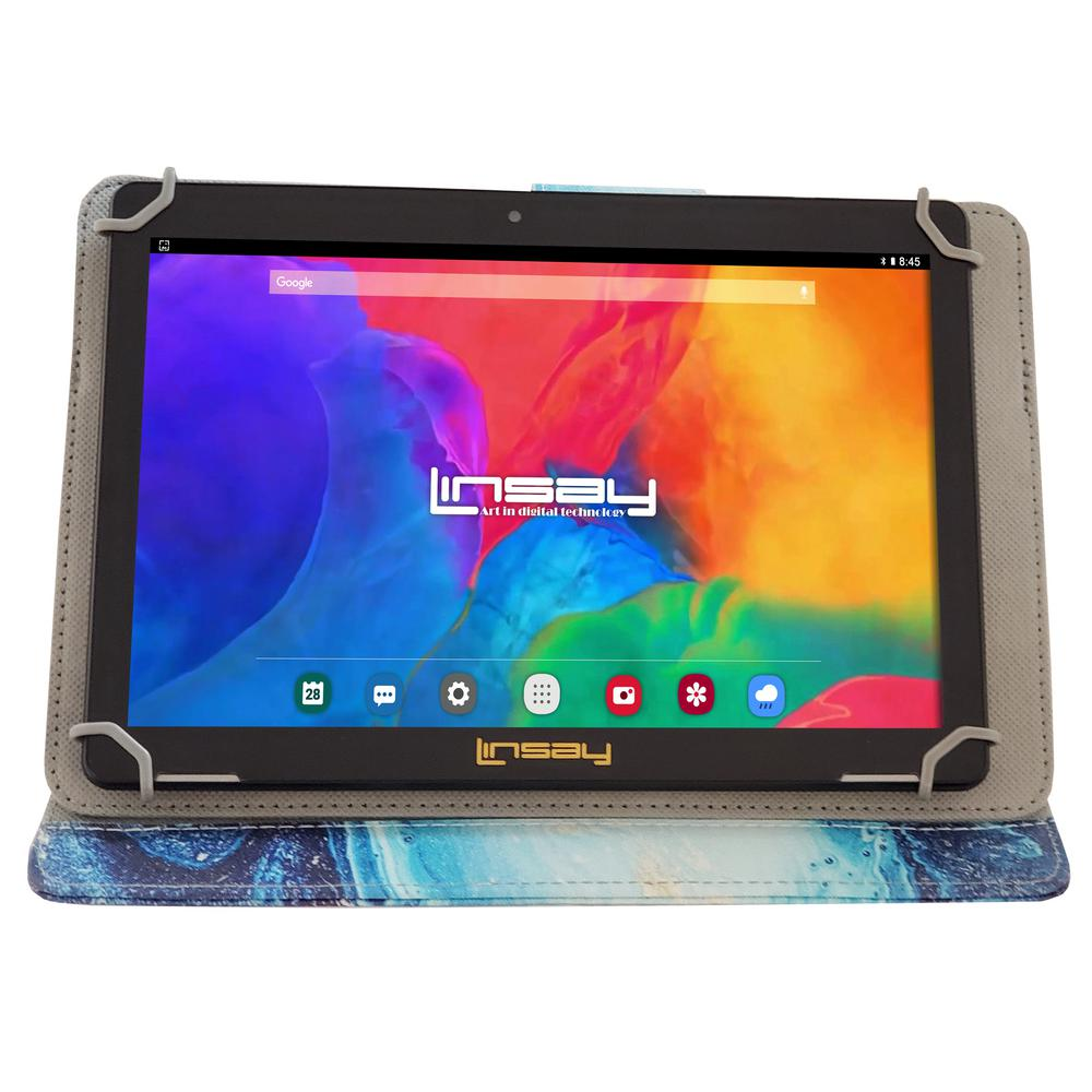 LINSAY 10.1 in. 1280x800 IPS 2GB RAM 16GB Android 9.0 Pie Tablet with Ocean Marble Case was $324.99 now $79.99 (75.0% off)