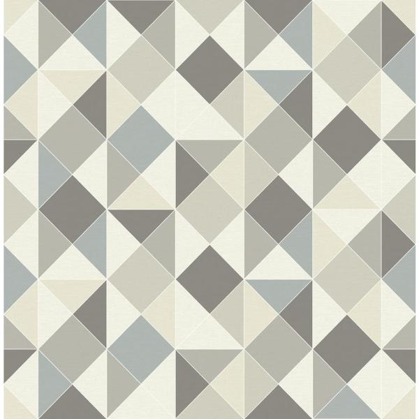 NuWallpaper Geometric Peel and Stick Wallpaper Sample NU2672SAM