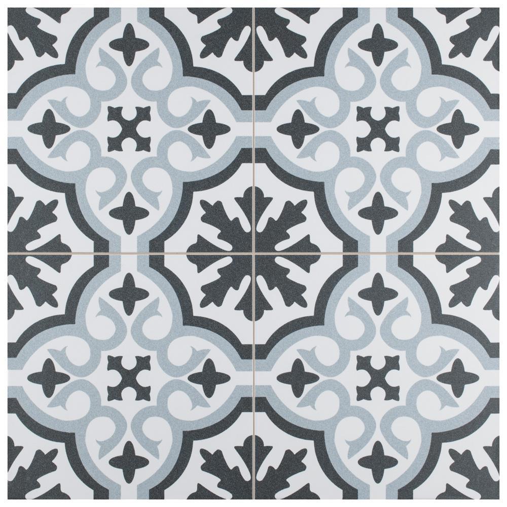 Berkeley Essence Sky Encaustic 17-5/8 in. x 17-5/8 in. Porcelain Floor and Wall Tile (11.02 sq. ft. / case)