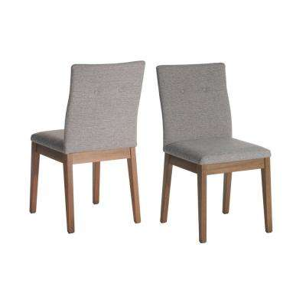 Leroy 2-Piece Grey Dining Chair