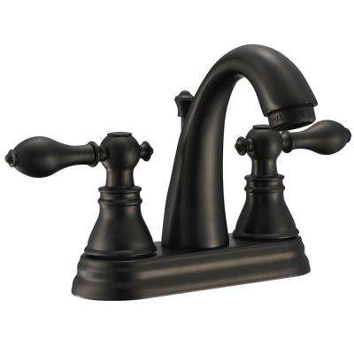 Classic 4 in. Centerset 2-Handle High-Arc Bathroom Faucet in Oil Rubbed Bronze