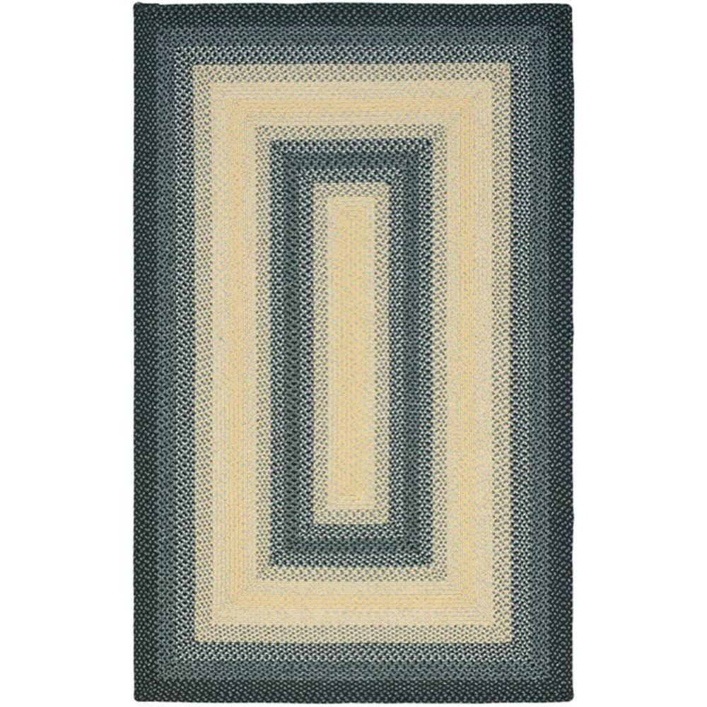 Safavieh Braided Black/Grey 6 ft. x 9 ft. Area Rug