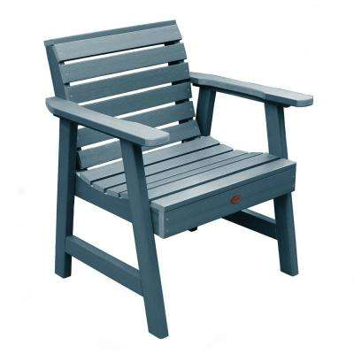 Weatherly Nantucket Blue Recycled Plastic Outdoor Lounge Chair