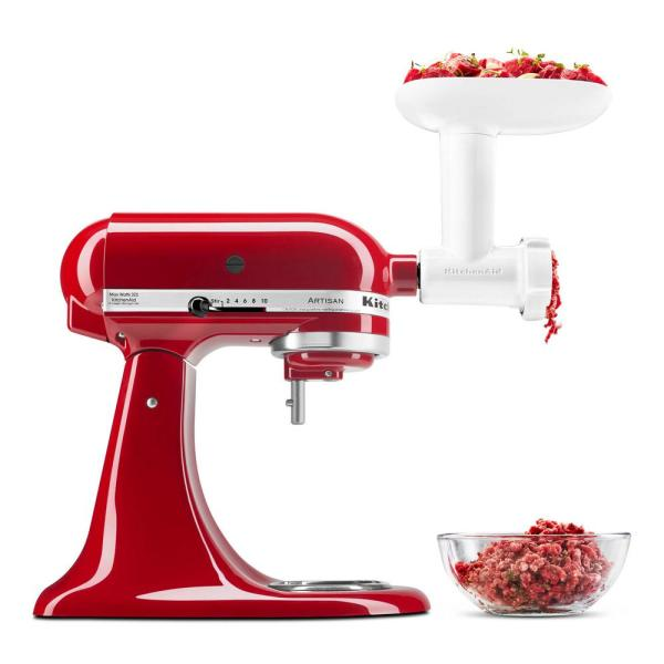 White Food Grinder Stand Mixer Attachment