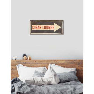 """Cigar Lounge Sign"" by Oliver Gal Canvas Wall Art"