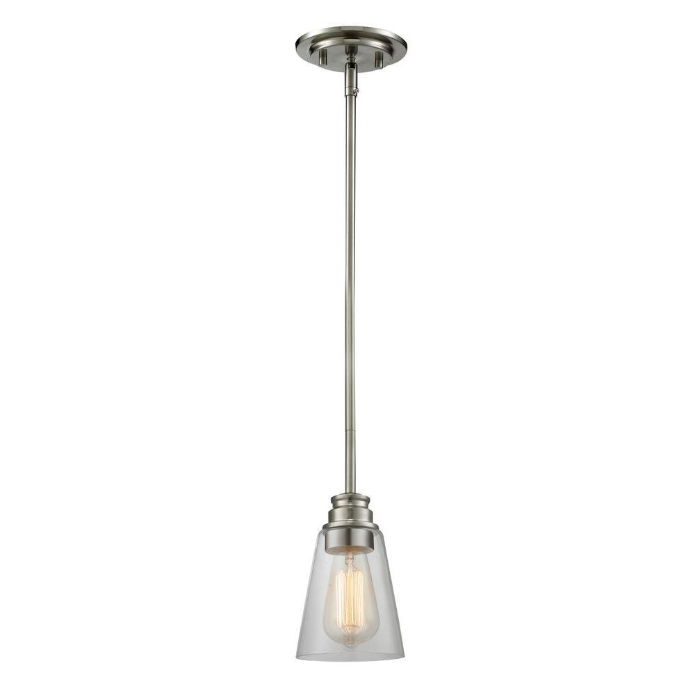 Filament Design Nina 1-Light Brushed Nickel Mini-Pendant