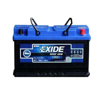 Edge 12 volts Lead Acid 6-Cell L4/94R/H7 Group Size 800 Cold Cranking Amps (BCI) Auto AGM Battery