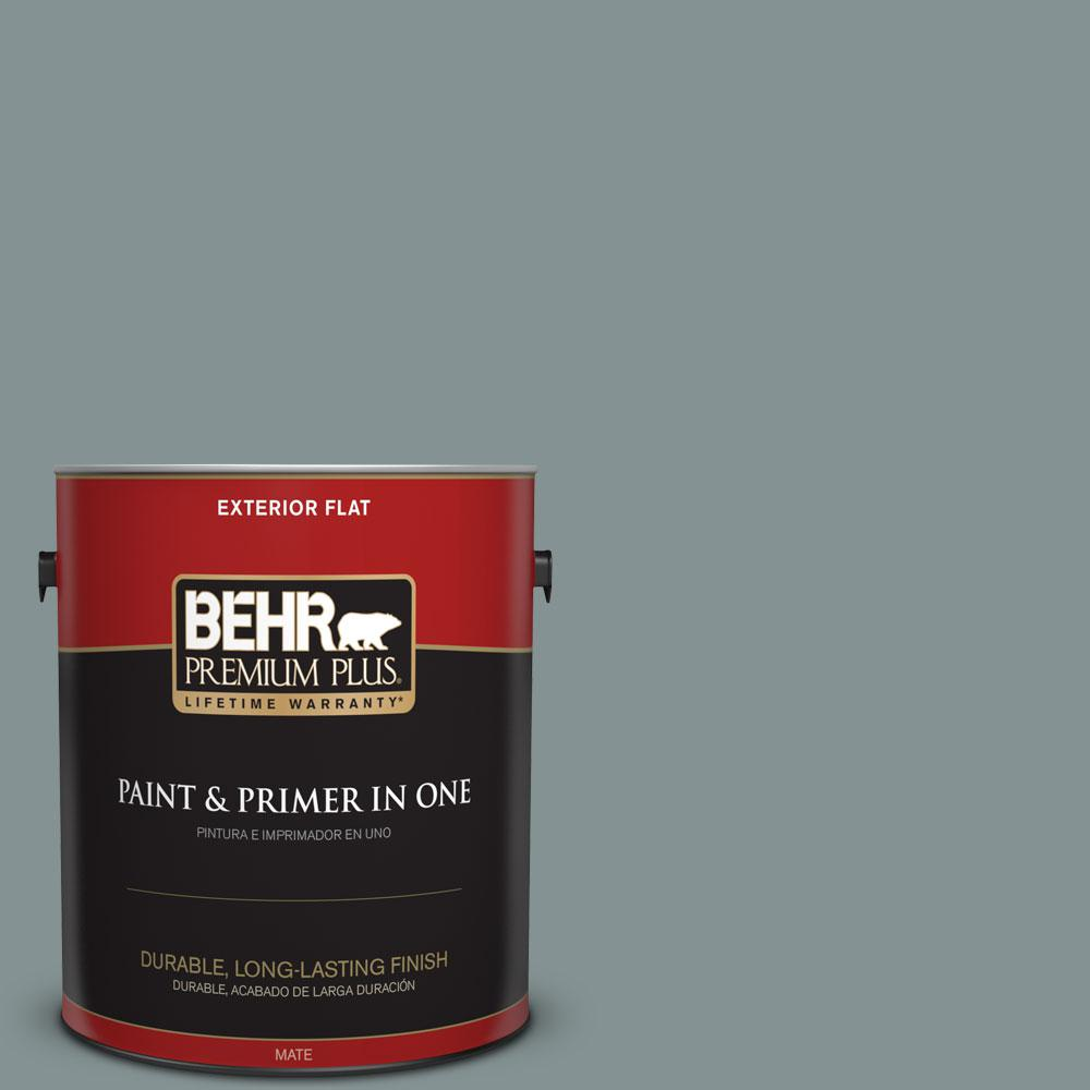 1-gal. #ECC-61-3 Evening Fog Flat Exterior Paint