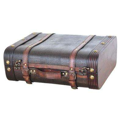 Decorative Wooden Leather Suitcase