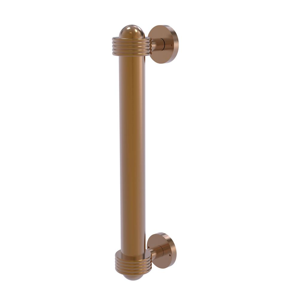 8 in. Door Pull with Groovy Accents in Brushed Bronze