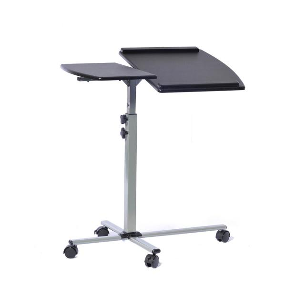 Admirable Techni Mobili Graphite Rolling Adjustable Laptop Cart Rta Interior Design Ideas Clesiryabchikinfo