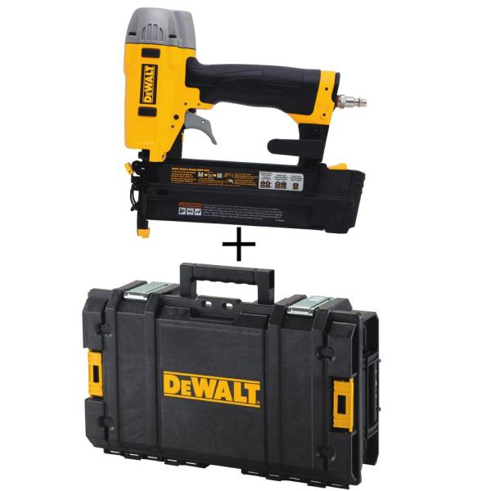 18-Gauge Pneumatic 2 in. Brad Nailer Kit with Bonus Tough System 22 in. Case Tool Box