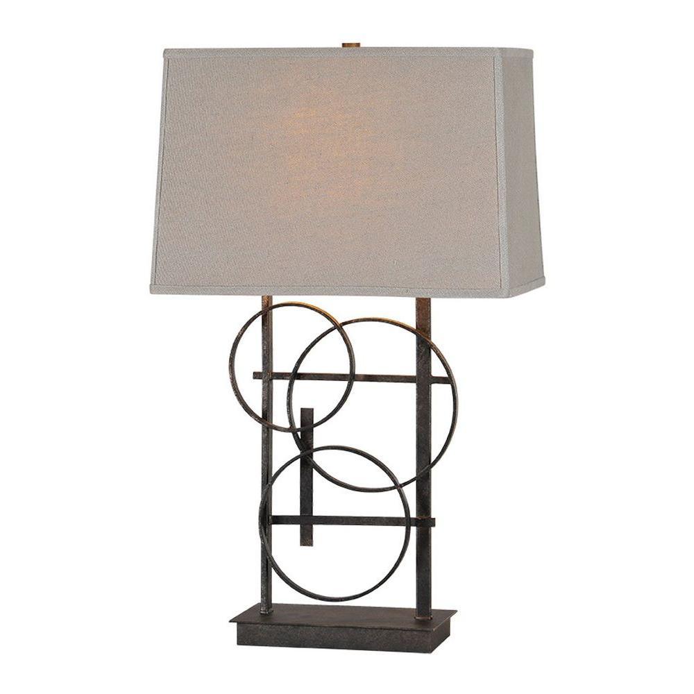 Illumine Luna 26 in. Antique Bronze Table Lamp