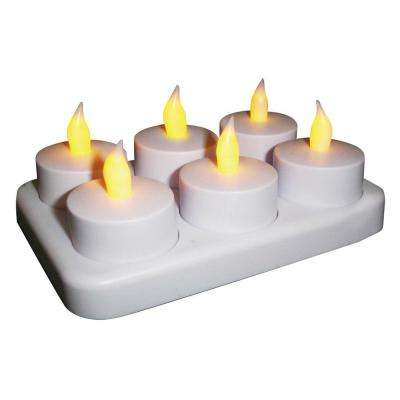 Rechargeable Tea Light with Recharging Station (6-Count)