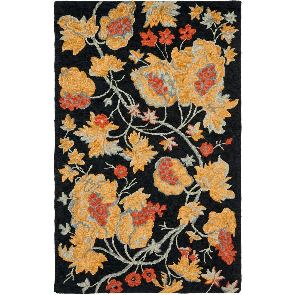 Safavieh Blossom Black/Multi 4 ft. x 6 ft. Area Rug