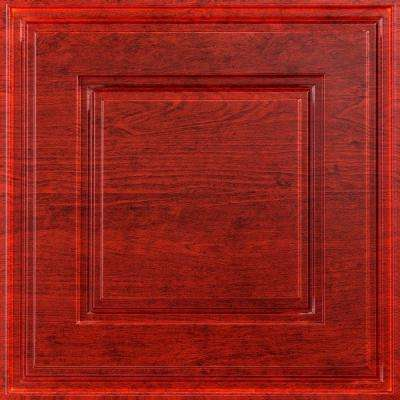 Raised Coffer 2 ft. x 2 ft. Lay-in Ceiling Tile in Cherry