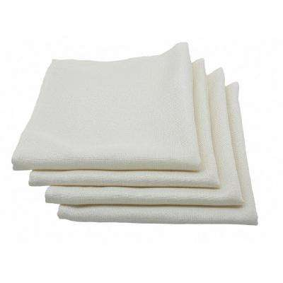Gala Glistening 20 in. x 20 in. Easy Care Solid Color Napkins in Ivory (Set of 4)