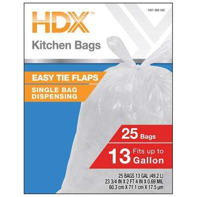 13 Gallon Kitchen Trash Bags (25-Count)