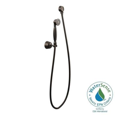 1-Spray Eco-Performance 2 in. Single Wall Mount Handheld Shower Head in Oil Rubbed Bronze