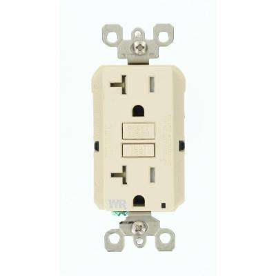 20 Amp SmartlockPro Weather/Tamper Resistant GFCI Outlet, Light Almond