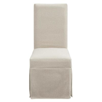 Muse Weathered Pepper Upholstered Parsons Chair with Slipcover (2-Count)