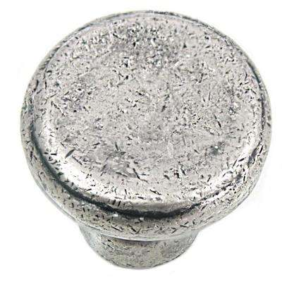 2 in. Distressed Pewter Large Riverstone Button Knob