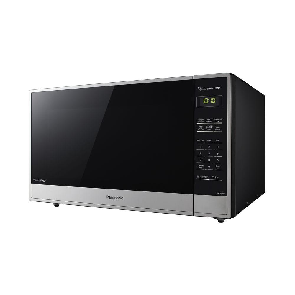 Panasonic 2 Cu Ft Countertop Microwave In Stainless Steel With Sensor Cooking