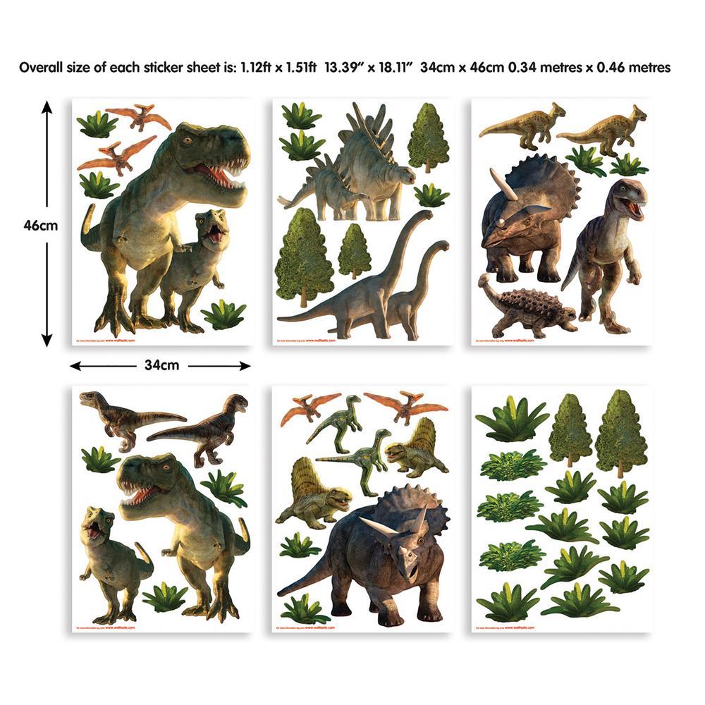 Green Dinosaur Land Wall Stickers