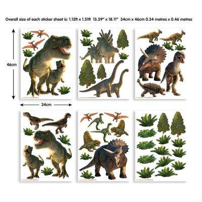 Green Dinosaur Land Wall Stickers