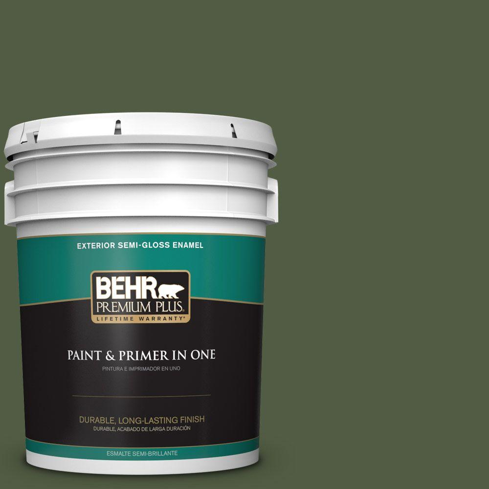 BEHR Premium Plus 5-gal. #420F-7 Forest Ridge Semi-Gloss Enamel Exterior Paint