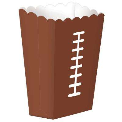 7.5 in. x 2.12 in. Football Snack Boxes