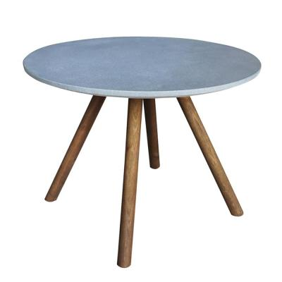 Nathan Round Cement Outdoor Side Table