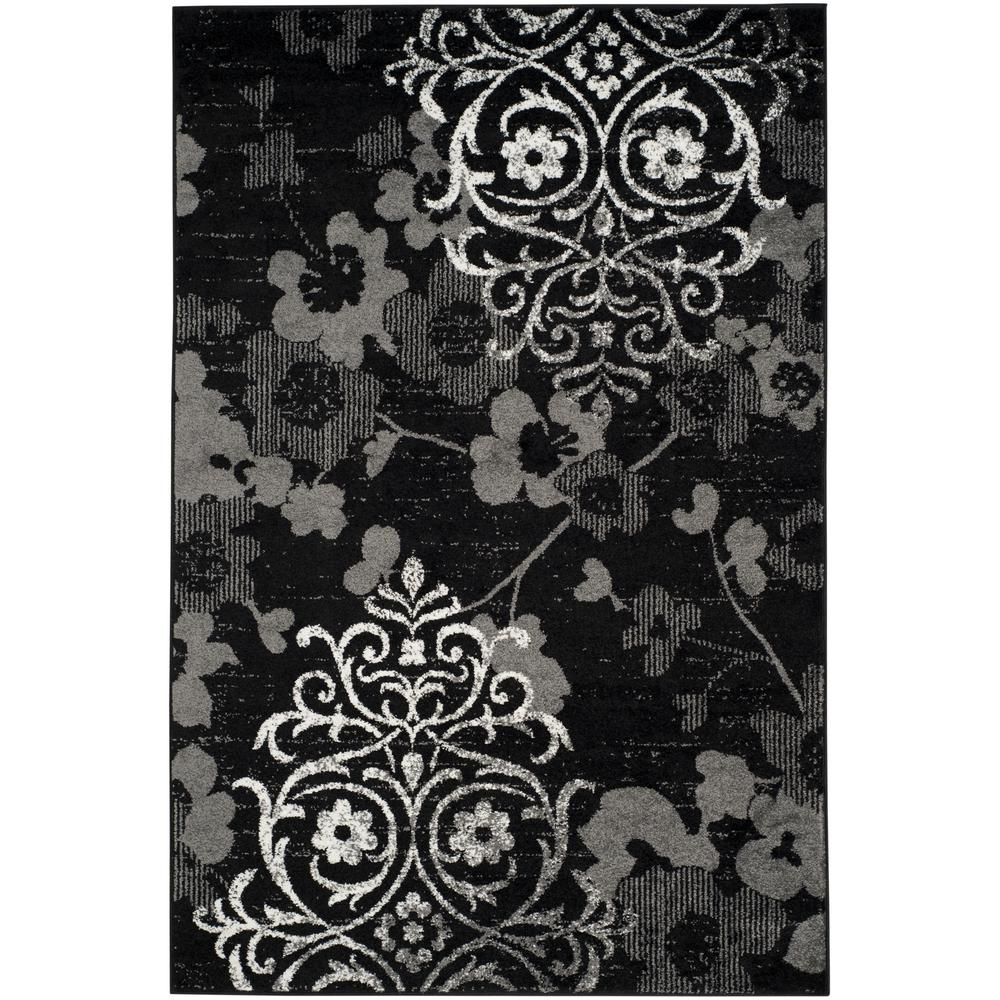 Safavieh Adirondack Black Silver 6 Ft X 9 Ft Area Rug Adr114a 6
