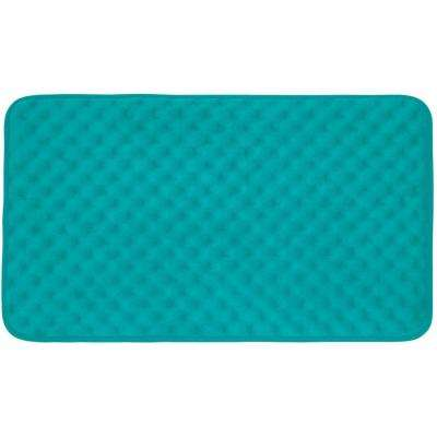 Massage Turquoise 20 in. x 32 in. Memory Foam Bath Mat