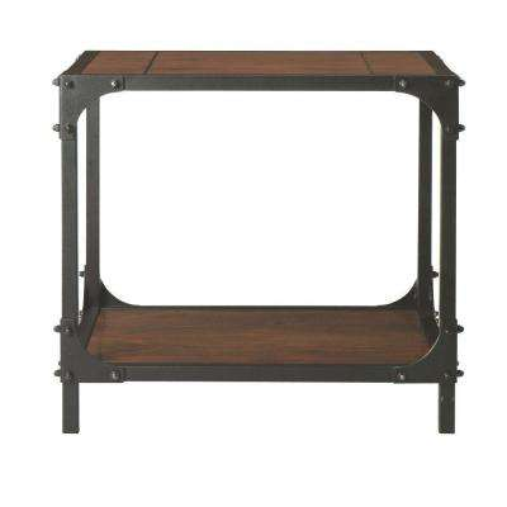 industrial empire black end table 15 home decorators