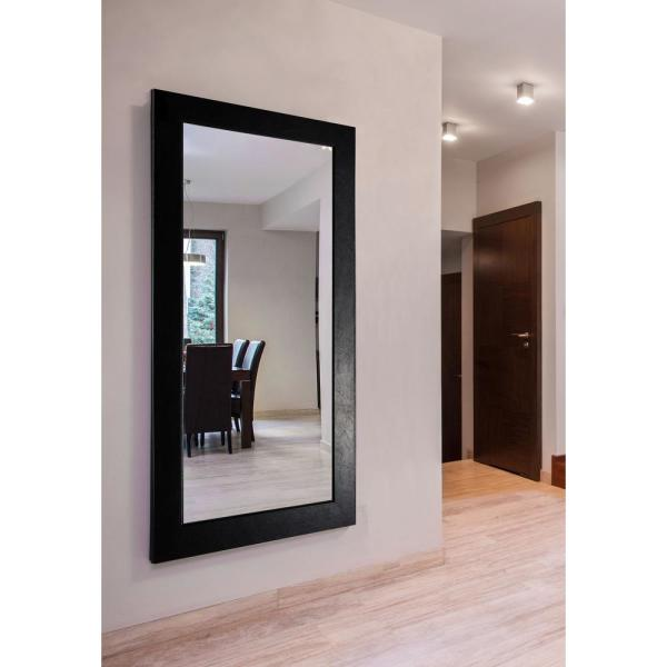 63.5 in. x 34.5 in. Black Superior Double Vanity Wall Mirror