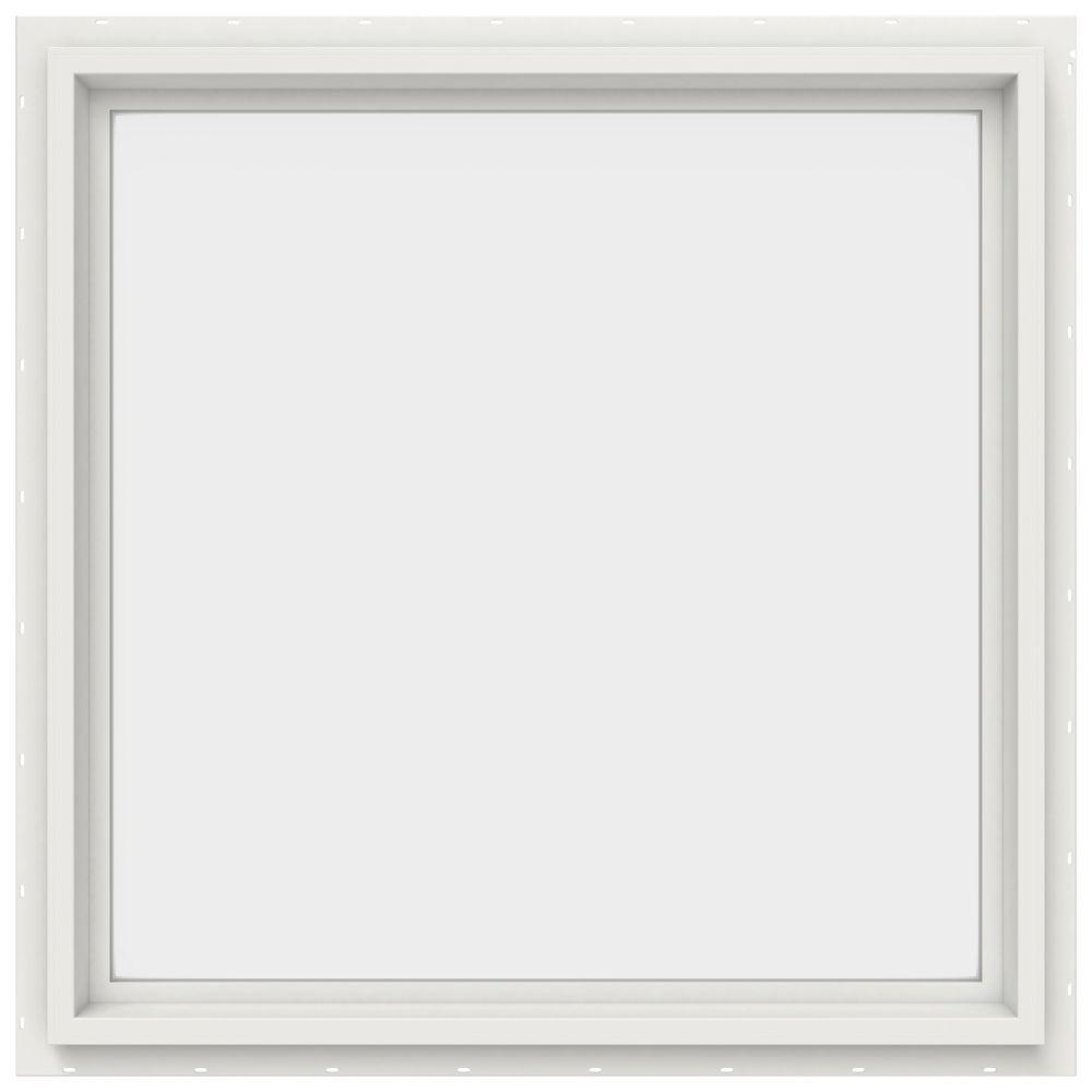JELD-WEN 29.5 in. x 29.5 in. V-4500 Series White Vinyl Picture ...