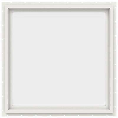 29.5 in. x 29.5 in. V-4500 Series Fixed Picture Vinyl Window in White