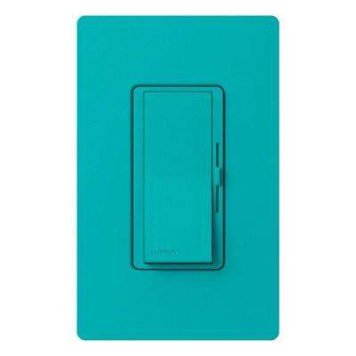 Diva Magnetic Low Voltage Dimmer, 450-Watt, Single-Pole or 3-Way, Turquoise