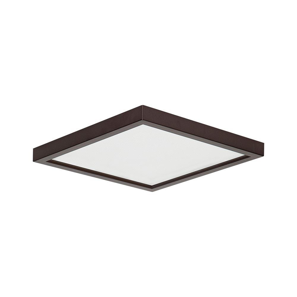 Smdl 8 in bronze recessed integrated led squared surface mount ceiling light fixture 3000k warm white