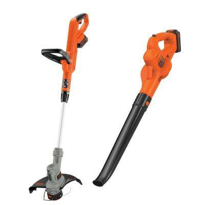 20-Volt MAX Lithium-Ion Cordless String Trimmer/Sweeper Combo Kit (2-Tool) with (2) 1.5Ah Batteries and Charger Included