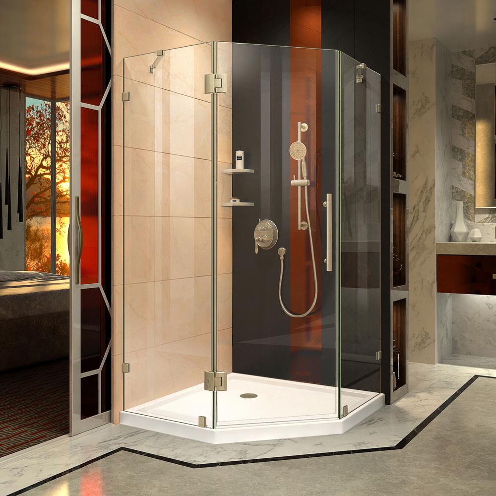 DreamLine Prism Lux 38 in. x 72 in. Frameless Corner Hinged Shower ...