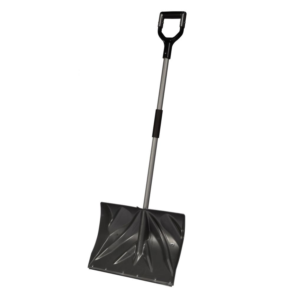 Combo Snow Shovel With Shockshield D-Grip, Metal Edge with Cushion Grip