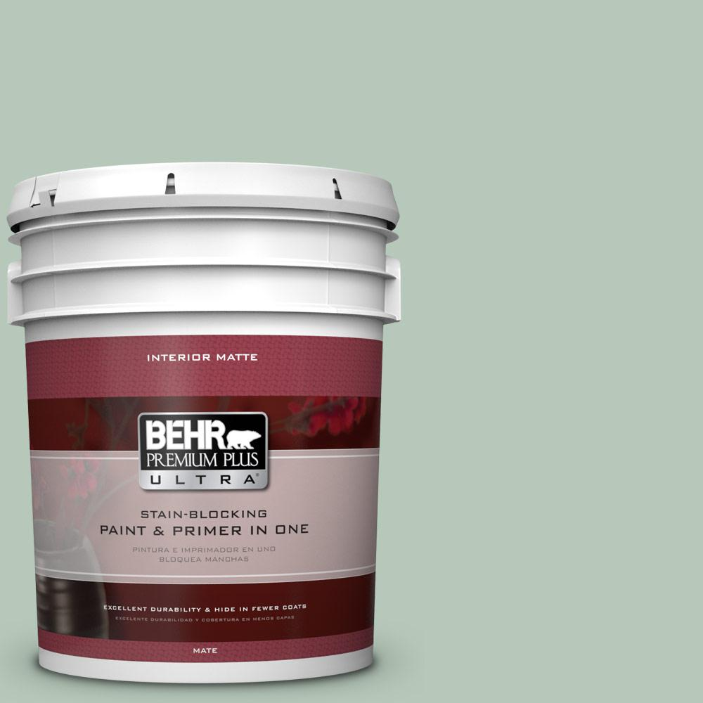 BEHR Premium Plus Ultra 5 gal. #S410-3 Pond's Edge Matte Interior Paint