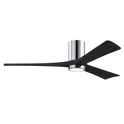 Irene-3HLK 60 in. Integrated LED Polished Chrome Ceiling Fan with Light Kit